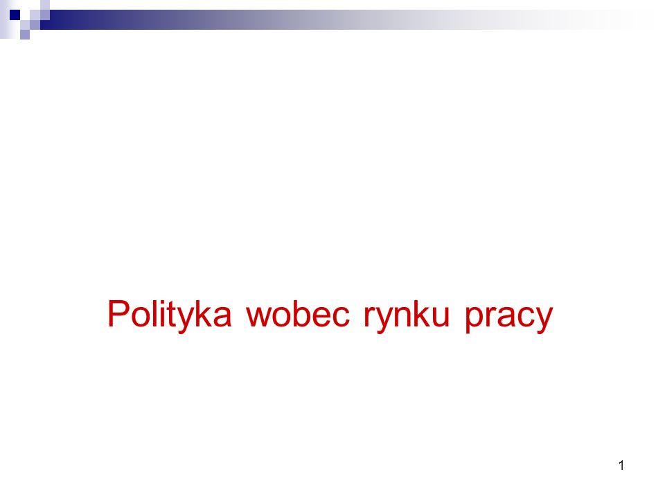 1 Zajęcia 5 Polityka wobec rynku pracy