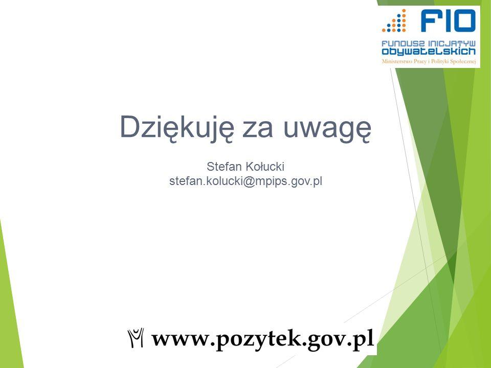 Dziękuję za uwagę Stefan Kołucki stefan.kolucki@mpips.gov.pl 54