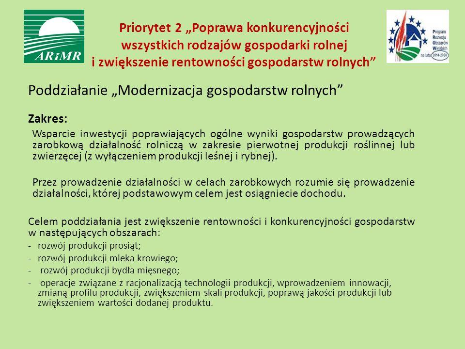 szczegółowy wykaz rodzajów działalności objętych pomocą określony jest w załączniku nr 1 do rozporządzenia wykonawczego, inwestycje w sektorach przetwórstwa: −mleka, mięsa (bez uboju o dużej skali) −owoców i warzyw (bez prod.