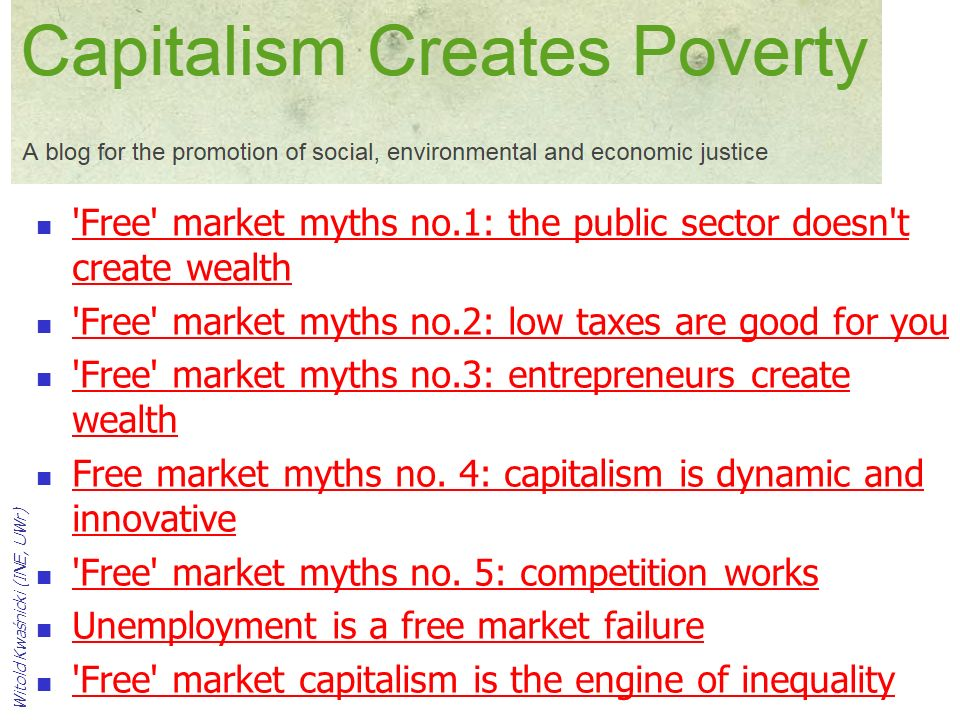'Free' market myths no.1: the public sector doesn't create wealth 'Free' market myths no.1: the public sector doesn't create wealth 'Free' market myth