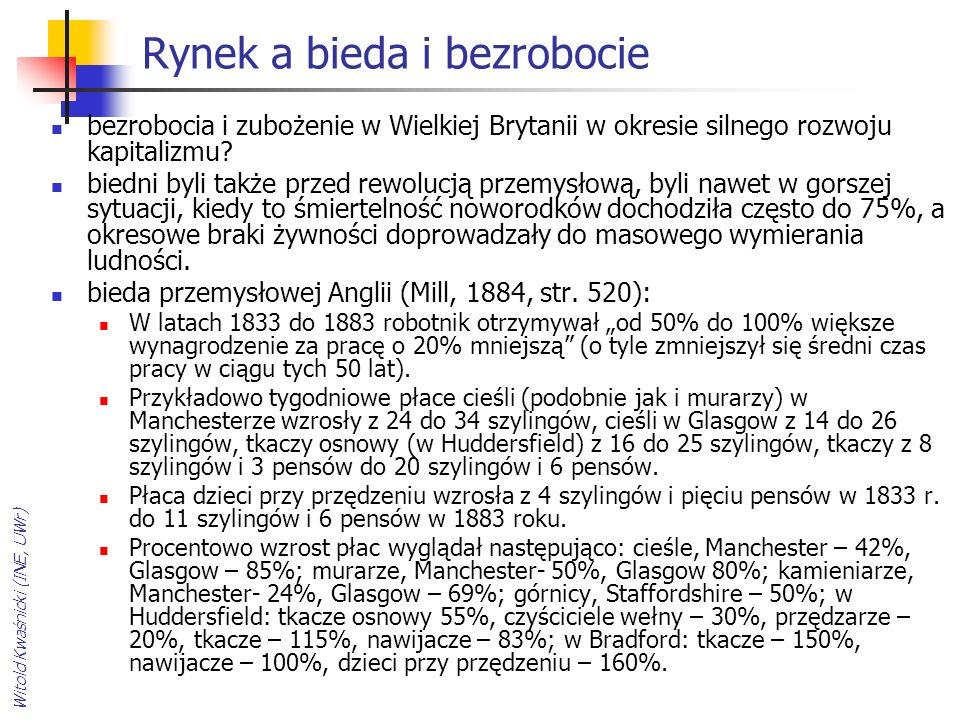 Witold Kwaśnicki (INE, UWr) Rynek a bieda i bezrobocie bezrobocia i zubożenie w Wielkiej Brytanii w okresie silnego rozwoju kapitalizmu.