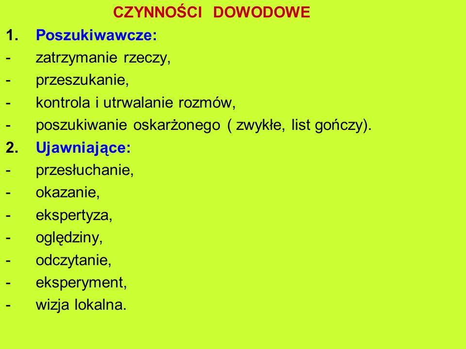 CZYNNOŚCI DOWODOWE 1.