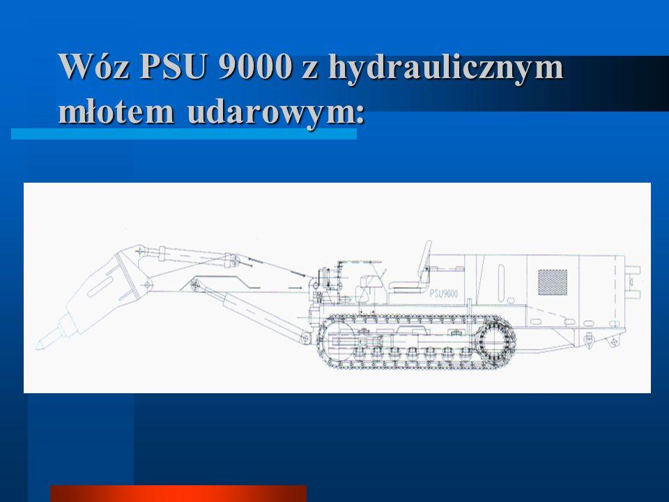 Wóz PSU 9000 z hydraulicznym młotem udarowym: