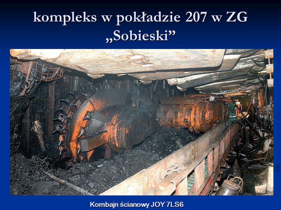 """kompleks w pokładzie 207 w ZG """"Sobieski"""" Kombajn ścianowy JOY 7LS6"""