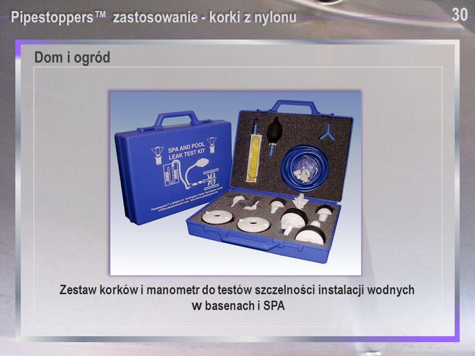 Pipestoppers™ zastosowanie - korki z nylonu Zestaw korków i manometr do testów szczelności instalacji wodnych w basenach i SPA Dom i ogród 30