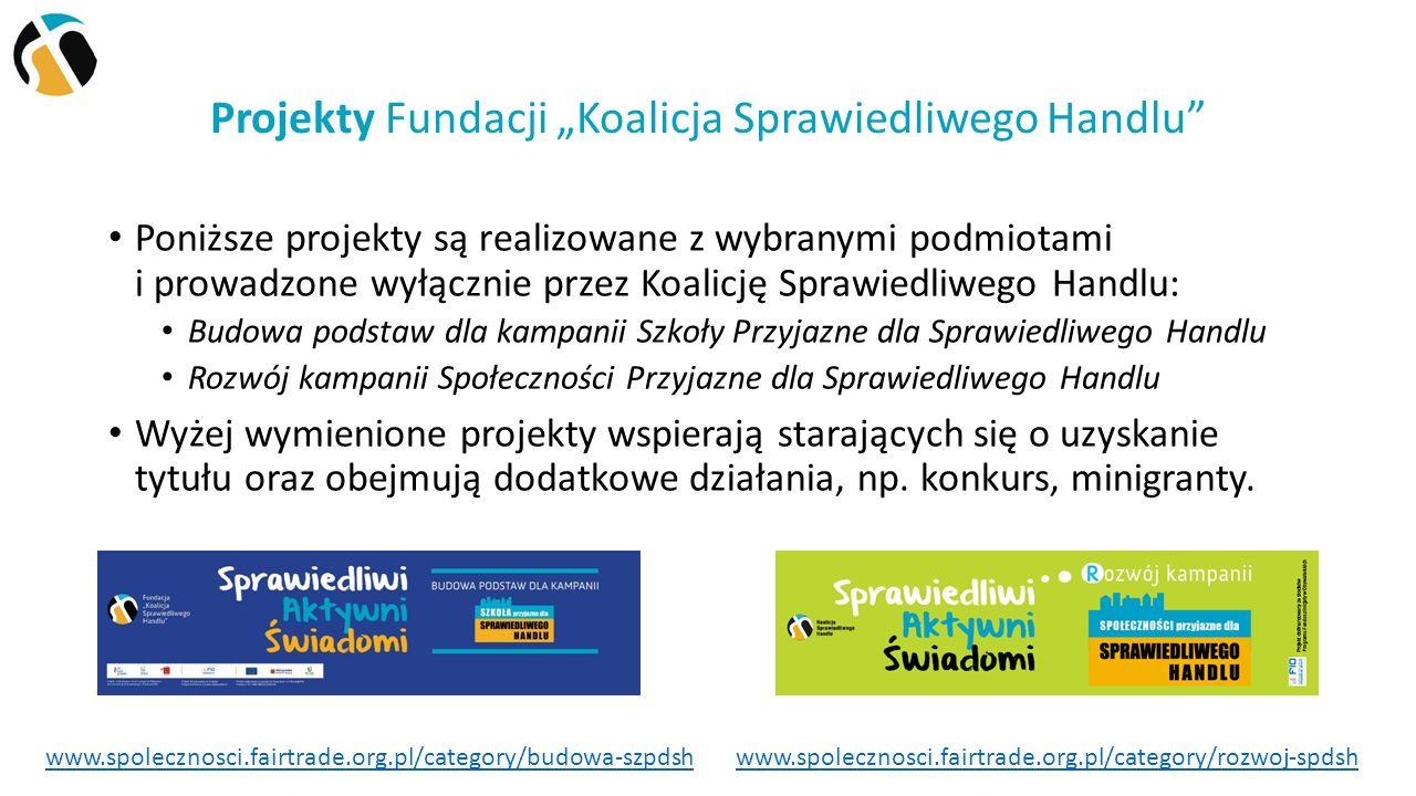 Kampania Szkoły Przyjazne dla Sprawiedliwego Handlu 12 34 5 Warto rozpocząć od zapoznania się z kryteriami dostępnymi online: www.spolecznosci.fairtrade.org.pl/kampania/kryteria