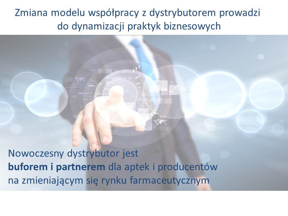 Zmiana modelu współpracy z dystrybutorem prowadzi do dynamizacji praktyk biznesowych Nowoczesny dystrybutor jest buforem i partnerem dla aptek i produ