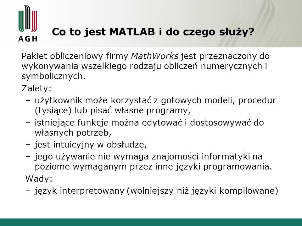 Co to jest MATLAB i do czego służy? Pakiet obliczeniowy firmy MathWorks jest przeznaczony do wykonywania wszelkiego rodzaju obliczeń numerycznych i sy