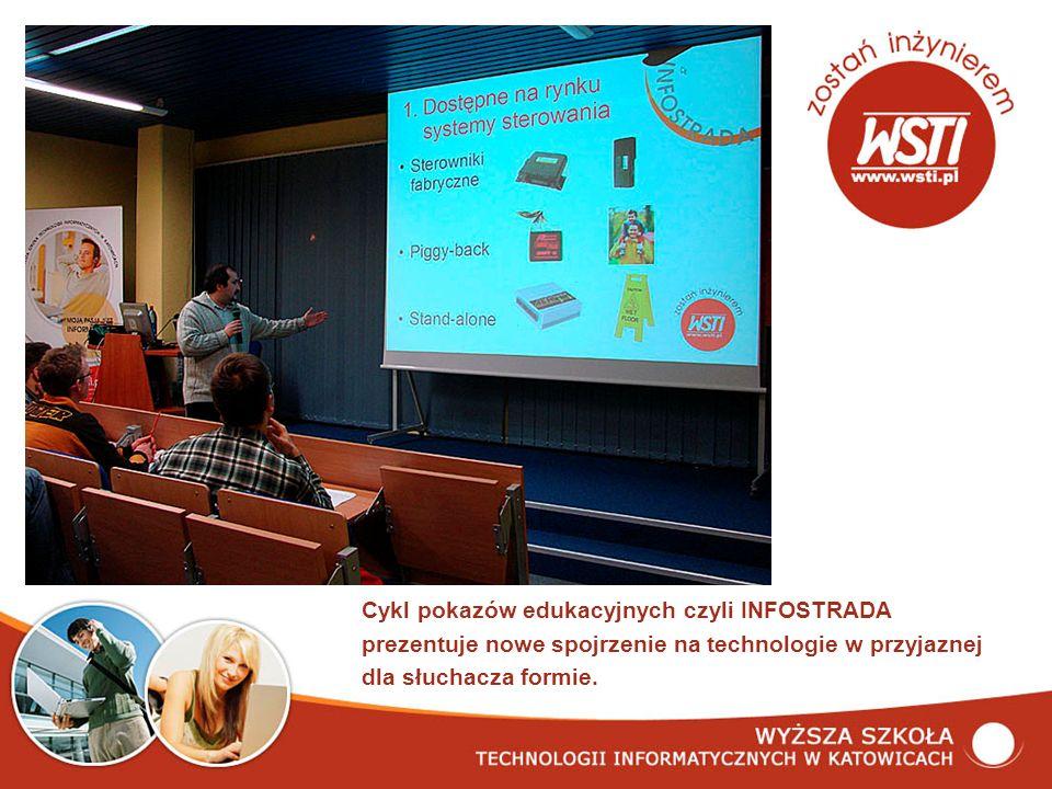 Cykl pokazów edukacyjnych czyli INFOSTRADA prezentuje nowe spojrzenie na technologie w przyjaznej dla słuchacza formie.