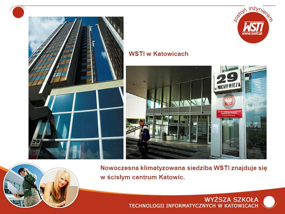 Nowoczesna klimatyzowana siedziba WSTI znajduje się w ścisłym centrum Katowic. WSTI w Katowicach