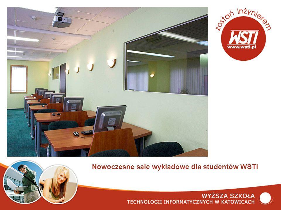 Nowoczesne sale wykładowe dla studentów WSTI
