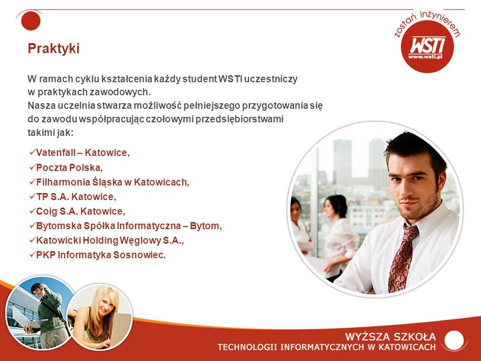 Praktyki W ramach cyklu kształcenia każdy student WSTI uczestniczy w praktykach zawodowych.