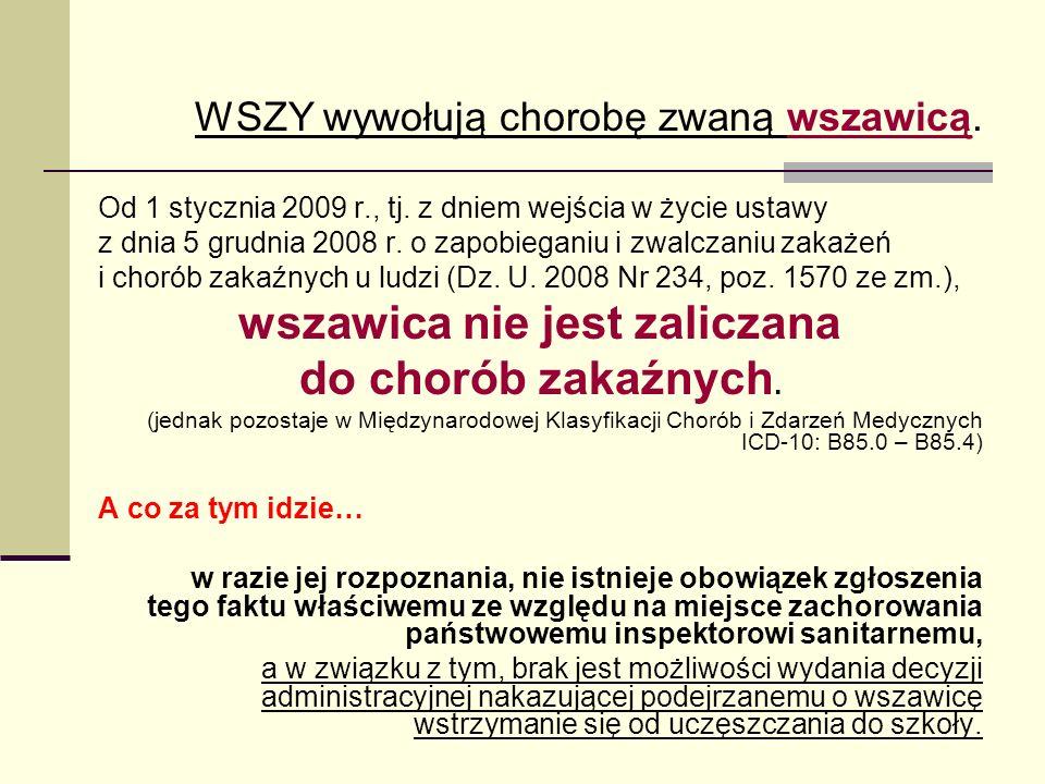 """Występowanie Najczęściej zarażają się dzieci w wieku 3-12 lat (""""kontaktowe zabawy, nie w pełni wyrobione nawyki higieniczne) Wszawica środowiskowa (przewlekła) w Polsce dotyczy od 0,6% do 2,0% dzieci w wieku szkolnym (wg."""