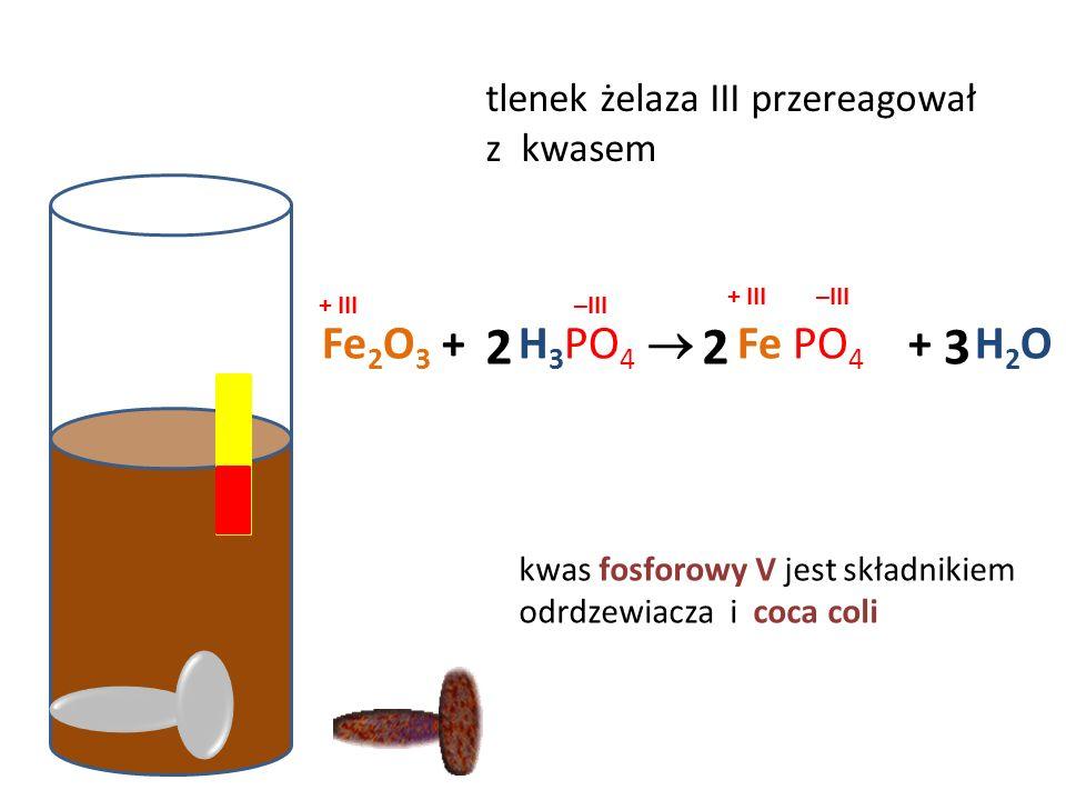 dezynfekcja rany woda utlenioną sok żołądkowy zobojętniono mleczkiem magnezowym Mg (OH) 2 + HCl  Mg Cl 2 + H 2 O lub wodorotlenkiem glinu 2 2 Al (OH)