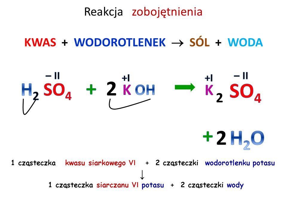 Reakcja zobojętnienia KWAS + WODOROTLENEK  SÓL + WODA 3 cząsteczki kwasu azotowego V + 1 cząsteczka wodorotlenku glinu ↓ 1 cząsteczka azotanu V glinu