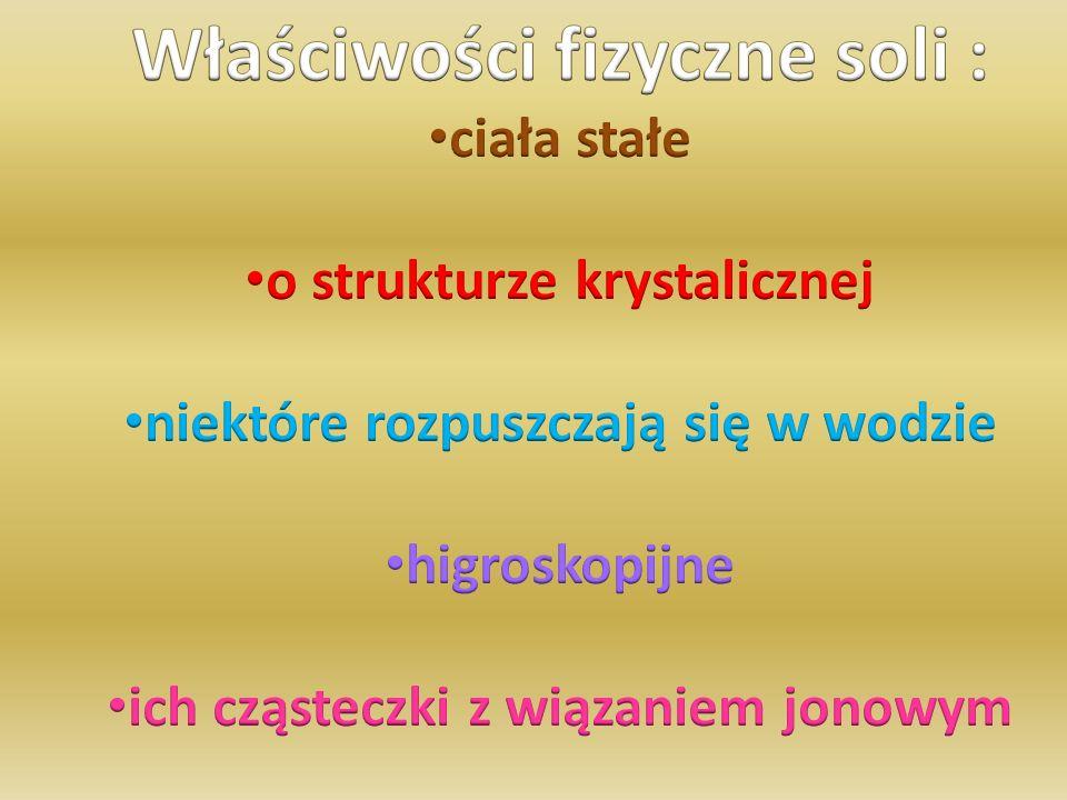 KWAS + TLENEK METALU  SÓL + WODA 3 cząsteczki kwasu siarkowego VI + 1 cząsteczka tlenku żelaza III ↓ 1 cząsteczka siarczanu VI żelaza III + 3 cząsteczki wody