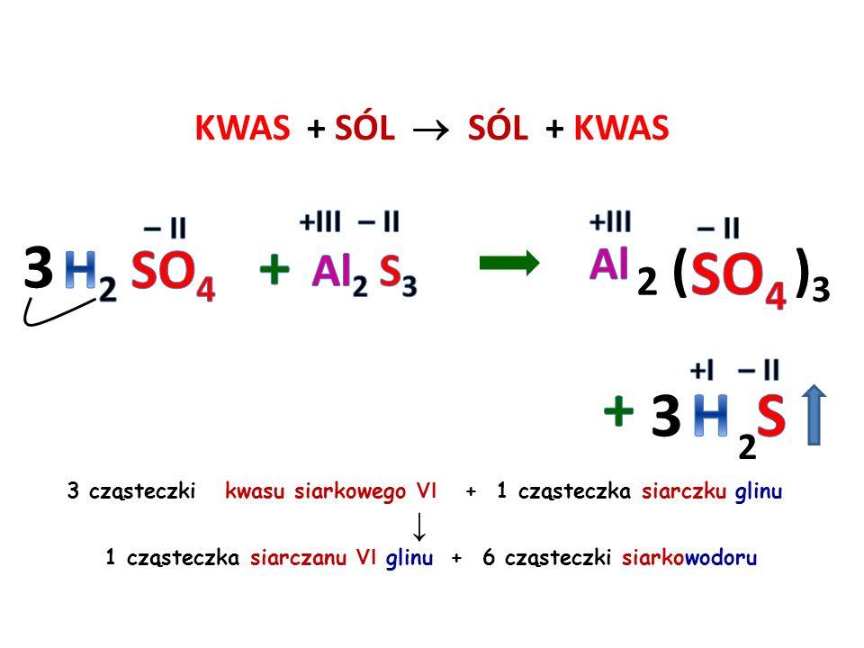KWAS + SÓL  SÓL + KWAS H 2 O + CO 2 2 cząsteczki kwasu azotowego V + 1 cząsteczka węglanu wapnia ↓ 1 cząsteczka azotanu V wapnia + 1 cząsteczka wody