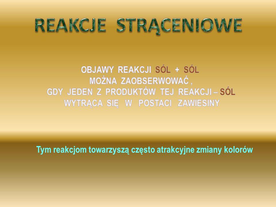 Cu (OH) 2 Cu SO 4 Na OH Na 2 SO 4 +→ +II – II +I – I +I – II +II – I Na 2 SO 4 Cu (OH) 2 + roztwór siarczanu VI miedzi II połączono z roztworem wodoro