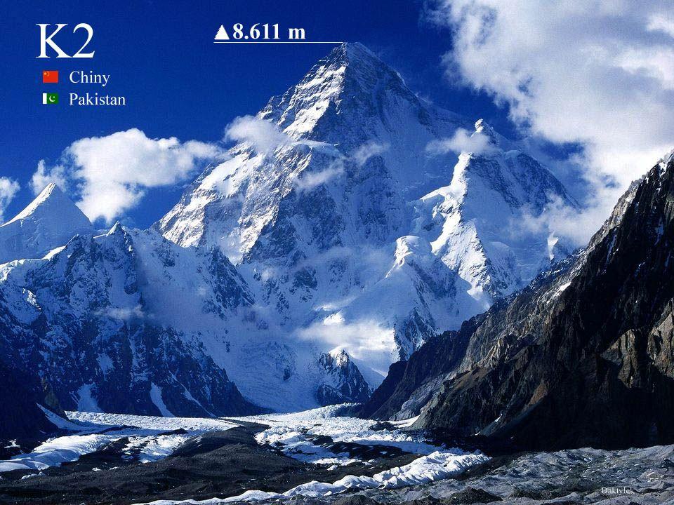 K2 - Czogori, Lambha Pahar, Dapsang, Kechu, Mount Godwin-Austen - najwyższy szczyt Karakorum, drugi co do wysokości (po Mount Everest) szczyt Ziemi – 8611 m n.p.m..