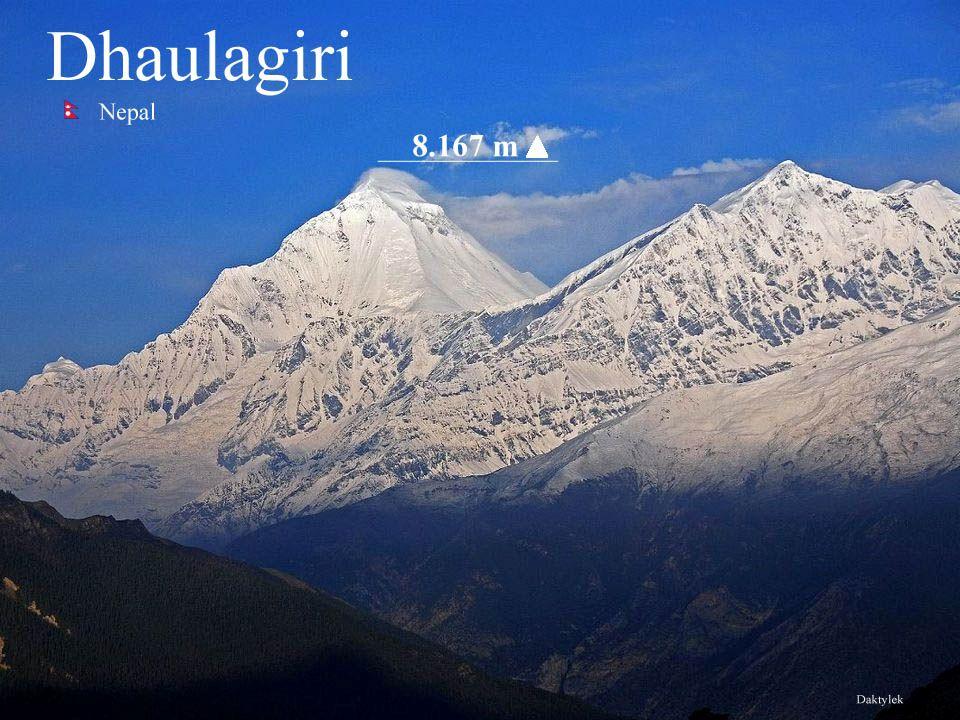 Daktylek Dhaulagiri szczyt w Himalajach środkowo-zachodnich o wysokości 8167 m n.p.m., oddzielony od pobliskiej Annapurny głęboko wciętą doliną rzeki Kali Gandaki.