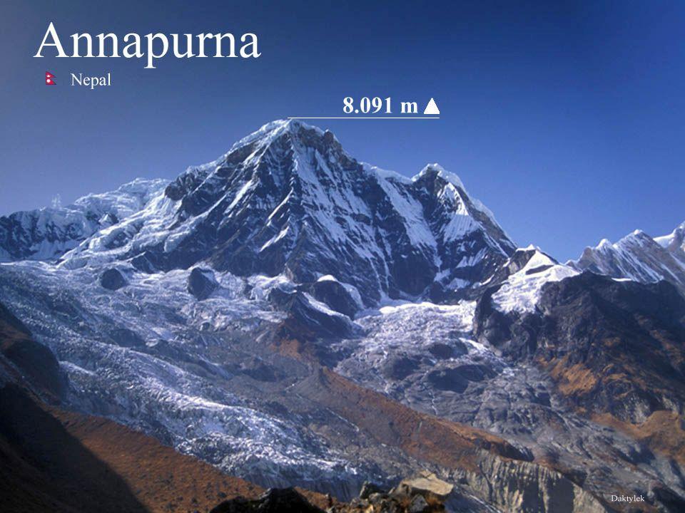 Daktylek Annapurna - dziesiąty co do wysokości szczyt Ziemi - 8091 m n.p.m.. Annapurna położona jest na północny zachód od Katmandu. Miejscowa nazwa j