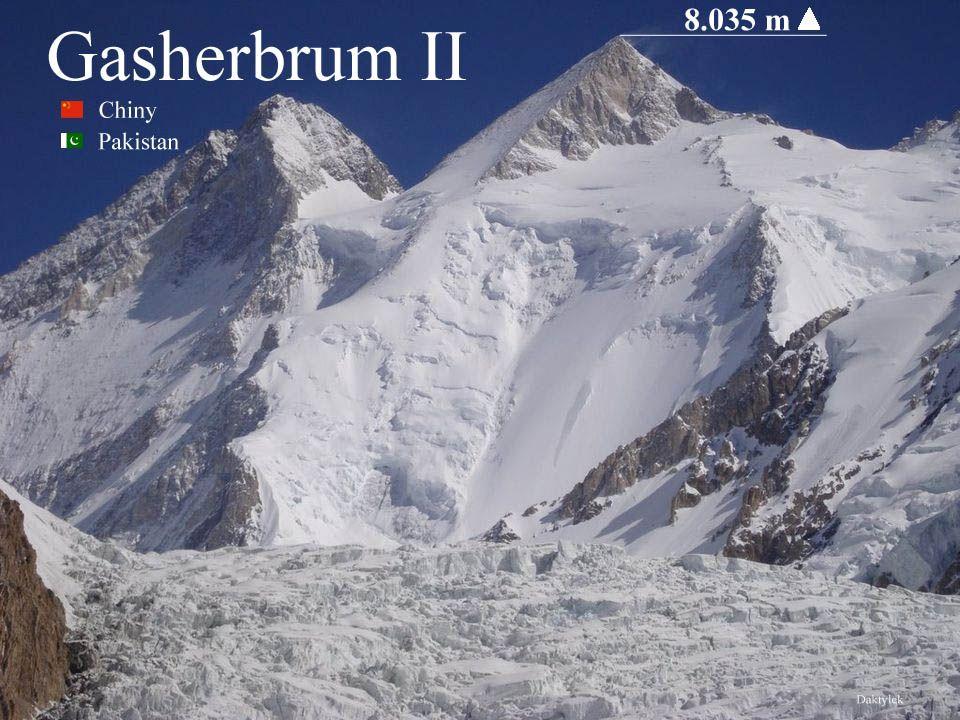 Daktylek Gaszerbrum II, Gasherbrum II - najniższy ośmiotysięcznik Karakorum o sylwetce regularnej piramidy. Jest trzynastym pod względem wysokości szc