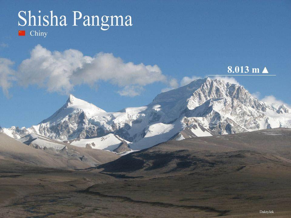 Daktylek Sziszapangma, Shisha Pangma, (chin. Xixabangma,; tybet. Shi-sha-sbang- ma) najniższy z ośmiotysięczników – 8013 m n.p.m., (lub 8027, 8046 w r