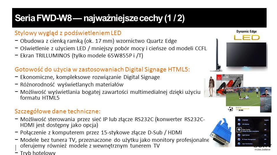 Stylowy wygląd z podświetleniem LED − Obudowa z cienką ramką (ok.