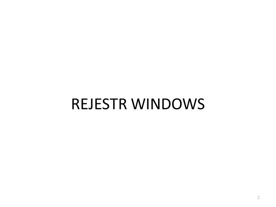 REJESTR WINDOWS 2