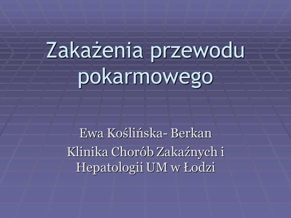  Biegunka przewlekająca się > 7dni 1.diagnostyka parazytologiczna 1.