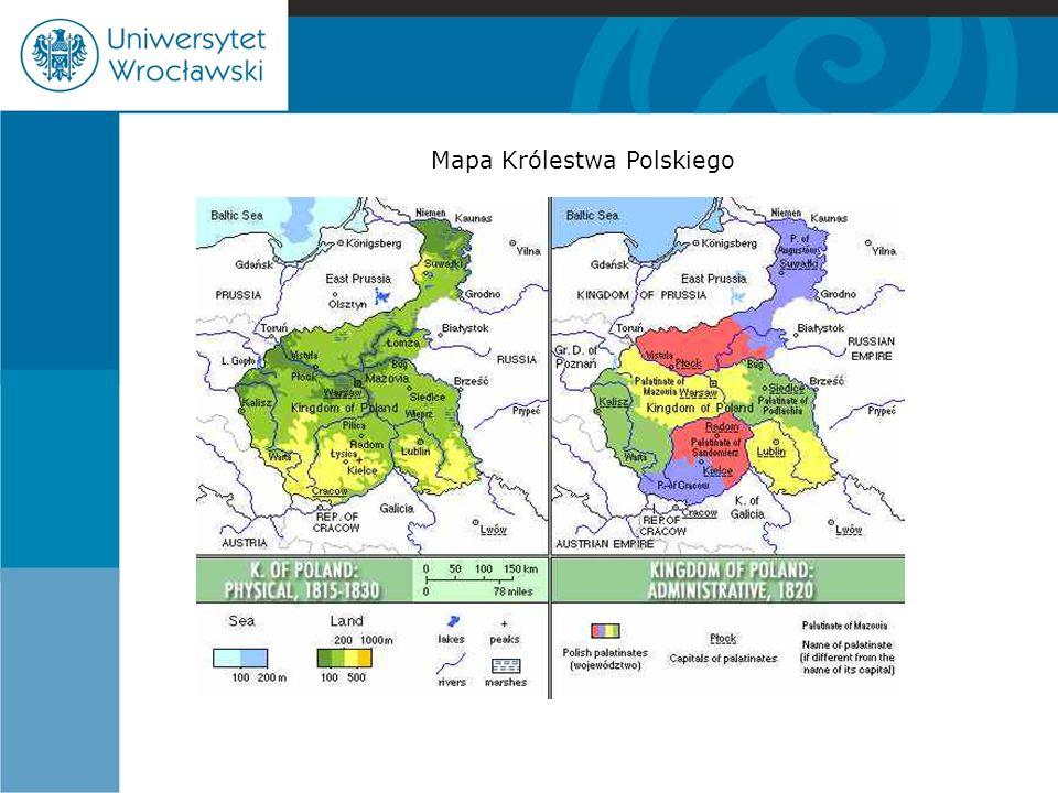 Królestwo Polskie (administracja terytorialna-gminy) W gminach miejskich w 1816 r.