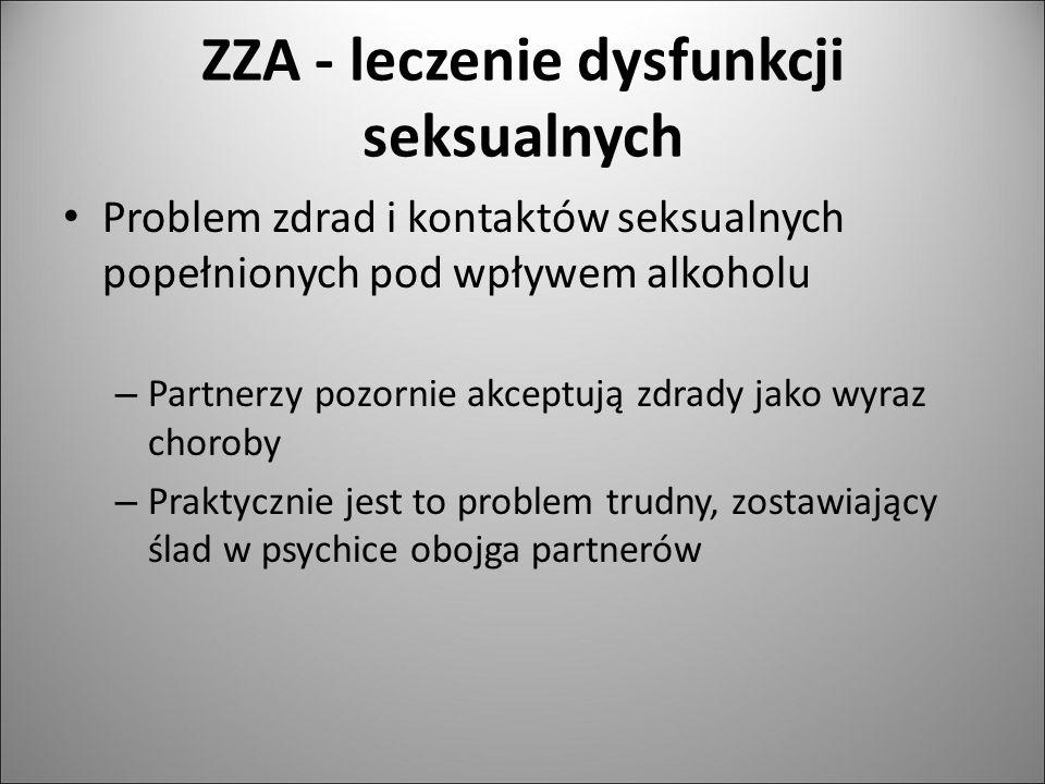 ZZA - leczenie dysfunkcji seksualnych Problem zdrad i kontaktów seksualnych popełnionych pod wpływem alkoholu – Partnerzy pozornie akceptują zdrady ja