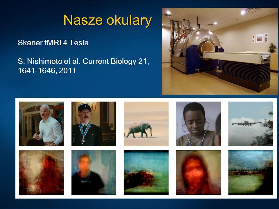 Nasze okulary Skaner fMRI 4 Tesla S. Nishimoto et al. Current Biology 21, 1641-1646, 2011