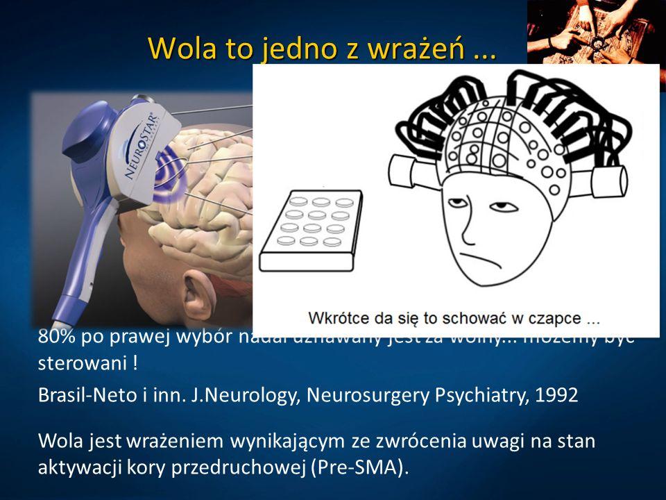 Wola to jedno z wrażeń...Wegner DM, The illusion of conscious will.