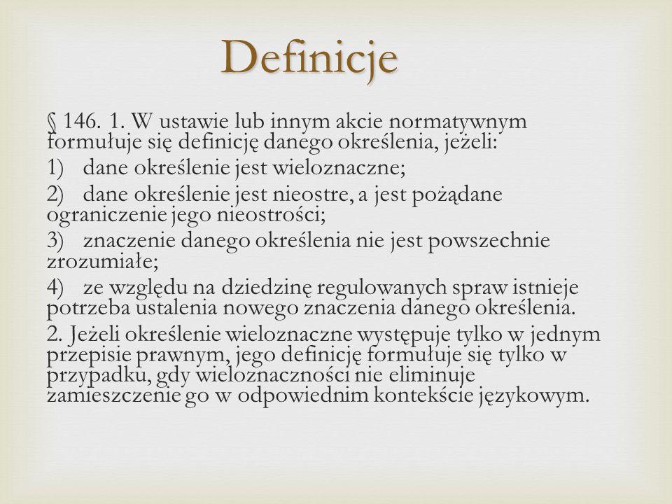 Definicje § 146.1.
