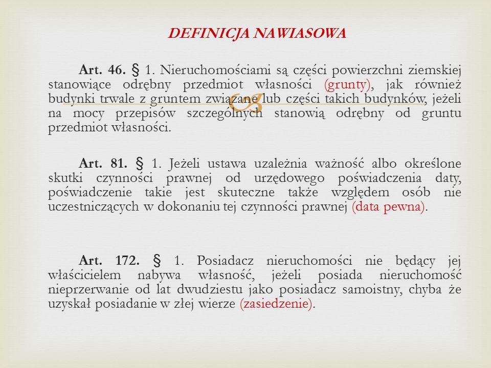  DEFINICJA NAWIASOWA Art.46. § 1.