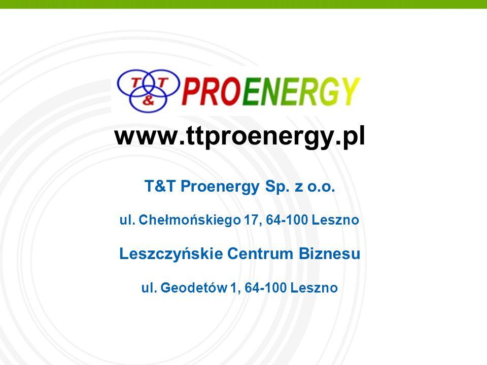 www.ttproenergy.pl T&T Proenergy Sp. z o.o. ul.