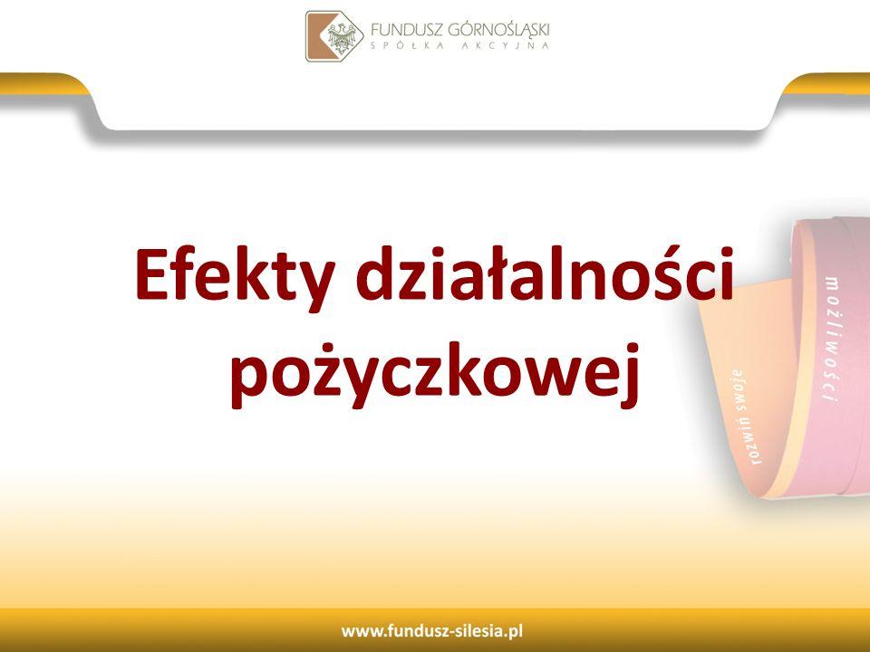 Efekty działalności pożyczkowej