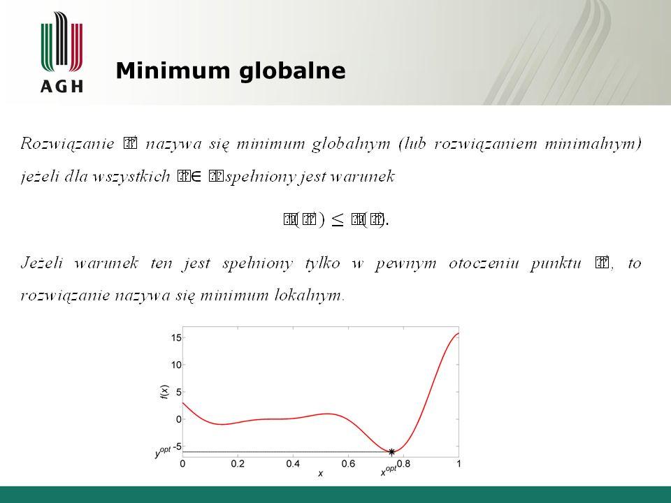 Metody optymalizacji Programowanie liniowe, Metody bezgradientowe (bezpośredniego szukania), Metody gradientowe, Metody niedeterministyczne.