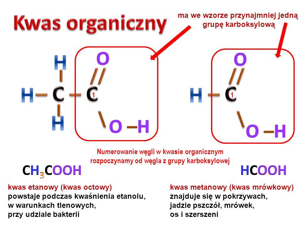 PROPANOLAN POTASU Atom metalu aktywnego zajmuje miejsce wodoru w grupie hydroksylowej