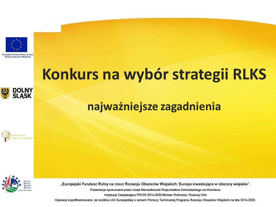 Konkurs na wybór strategii RLKS najważniejsze zagadnienia
