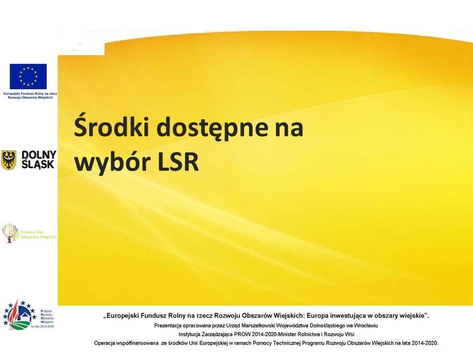Środki dostępne na wybór LSR
