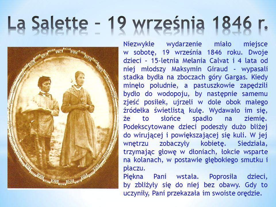 Niezwykłe wydarzenie miało miejsce w sobotę, 19 września 1846 roku.