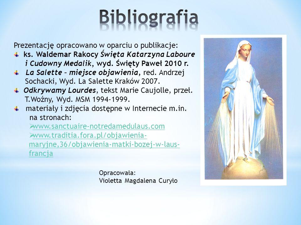 Prezentację opracowano w oparciu o publikacje: ks.