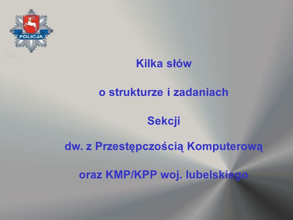 Kilka słów o strukturze i zadaniach Sekcji dw. z Przestępczością Komputerową oraz KMP/KPP woj. lubelskiego