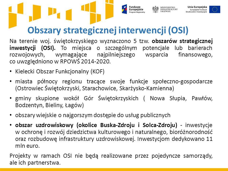Obszary strategicznej interwencji (OSI) Na terenie woj.
