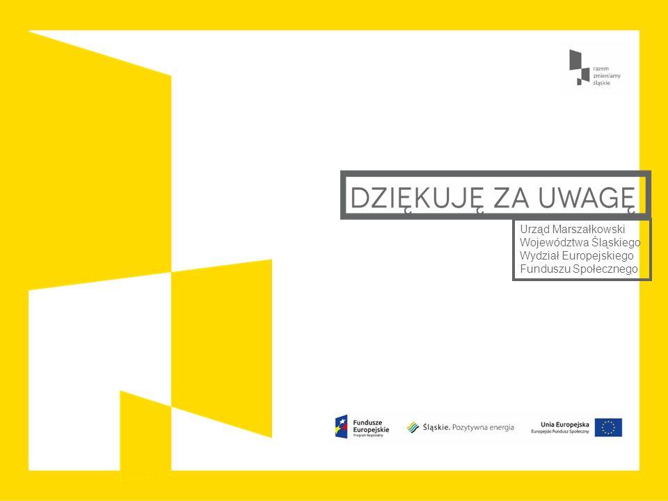 Urząd Marszałkowski Województwa Śląskiego Wydział Europejskiego Funduszu Społecznego