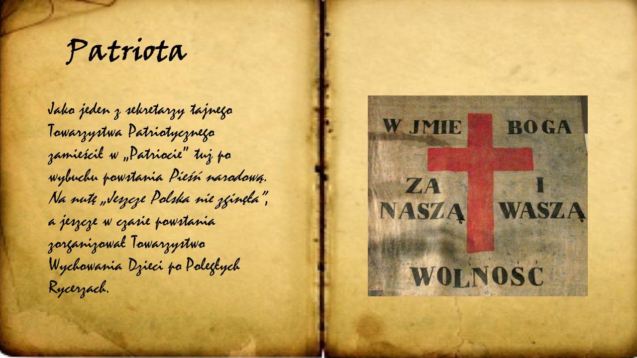 """""""Udział'' w powstaniu Jachowicz był pierwszym, który wciągnął do współpracy nad pismem samych czytelników. Publikował nadsyłane przez nich listy, prób"""