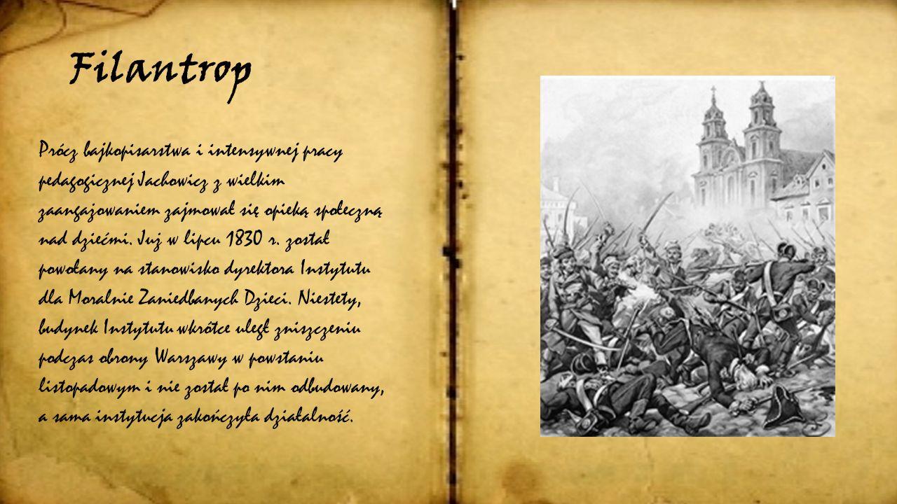Zainteresowania Jachowicz oprócz literatury dla dzieci tworzył także wiersze dla dorosłych, w których pokazywał między innymi obraz swoich rodzinnych