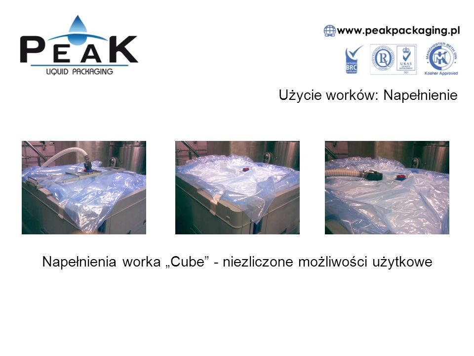 """Użycie worków: Napełnienie Napełnienia worka """"Cube"""" - niezliczone możliwości użytkowe"""